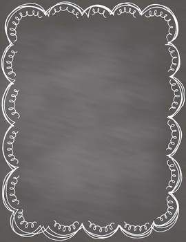 Chalkboard Papers with Frames- 30 Commercial Use Papers