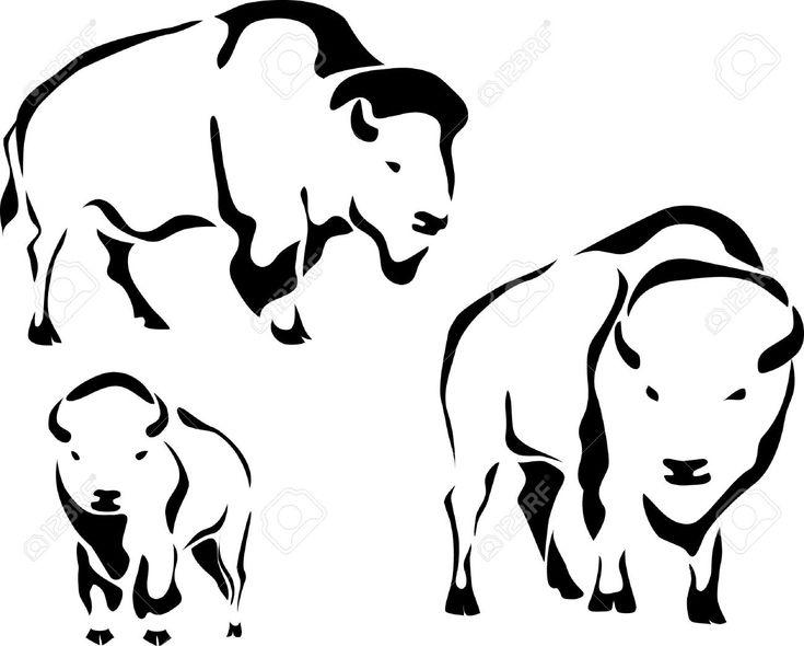 Animals For > Buffalo Head Outline