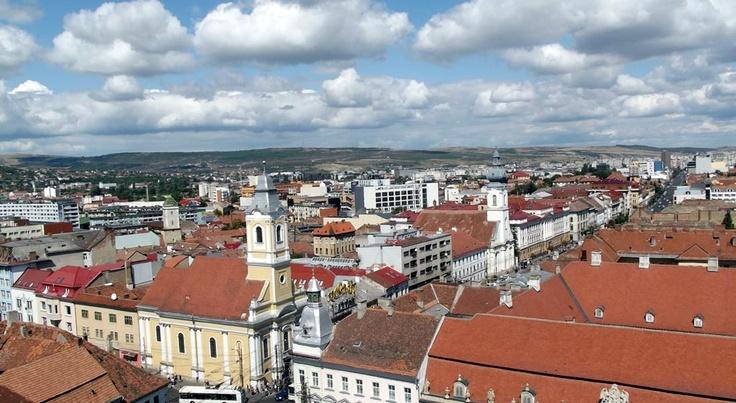 Vedere din turnul Bisericii Sf. Mihail