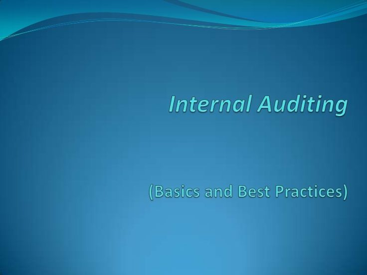 Internal Auditing Slide Presentation