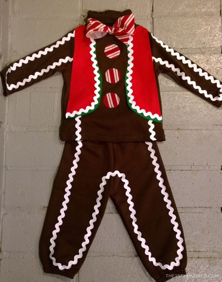 DIY Gingerbread Man Costume