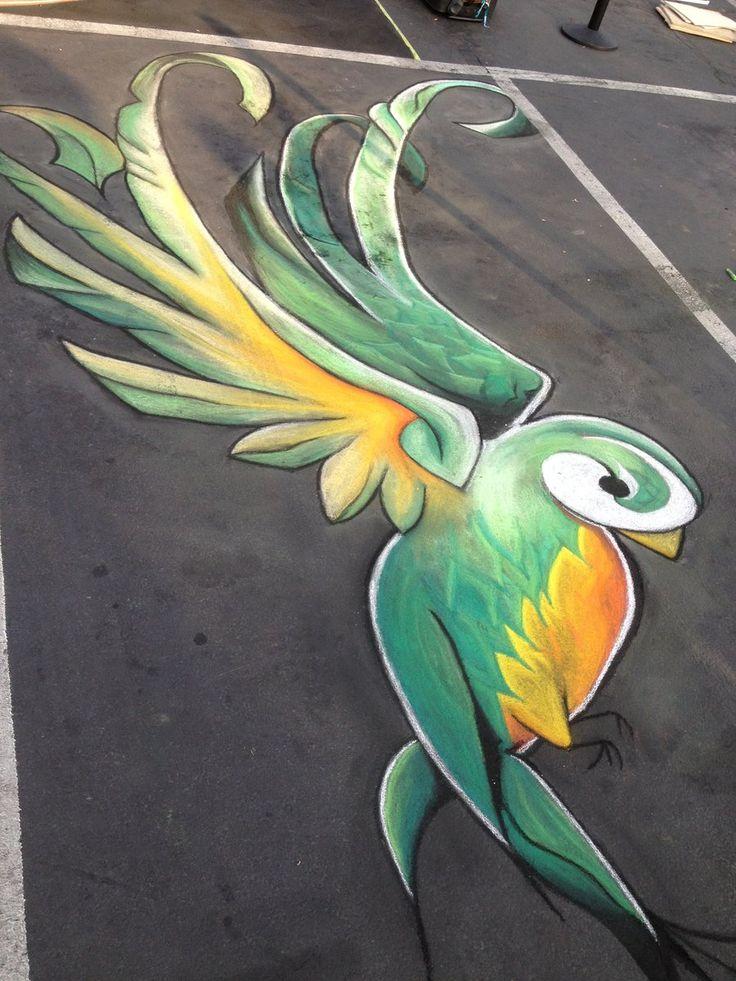 Quetzal Chalk by ~chelsaroo on deviantART