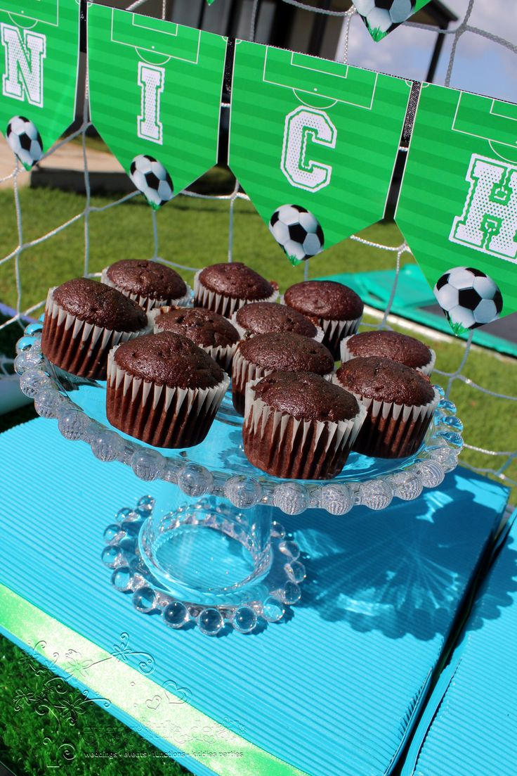 Mini Chocolate Muffins #Soccer