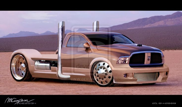 Dodge Ram Pick-up Truck  Inspiration was the truck in Fast & Furious 4  Software used: Photoshop  Also submitted as a print (requested)    (C) Copyright Manuel Compaan