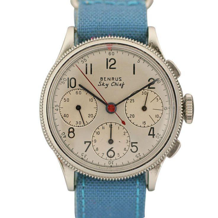 Benrus Sky Chief Vintage Chronograph Swiss 1950s