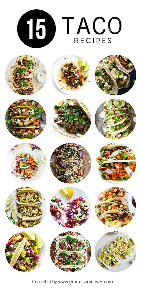 A delicious collection of 15 creative taco recipes from food bloggers | gimmesomeoven.com: