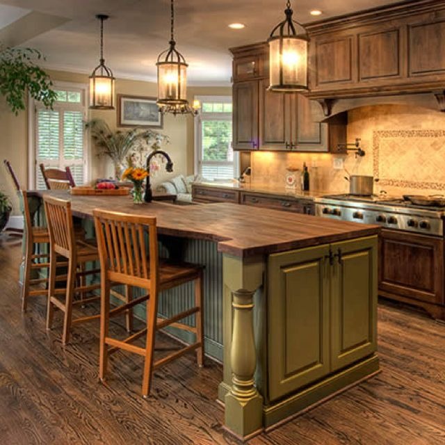 nice Pictures Of Country Kitchens With Islands #8: 30 Country Kitchens Blending Traditions and Modern Ideas, 280 Modern Kitchen  Designs