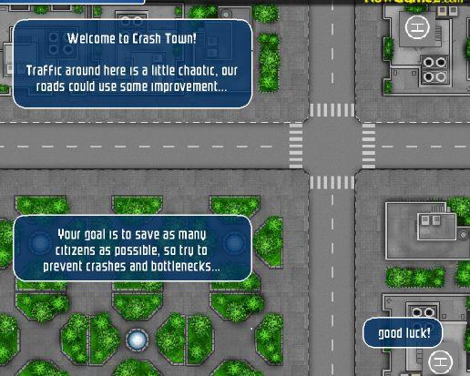 Crash town directioneaza traficul de masini in oras - jocuri masini