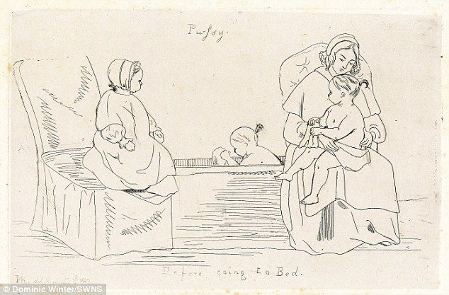 Now that's a super-injunction: Sketches by Queen Victoria that she didn't want seen revealed after 150 years
