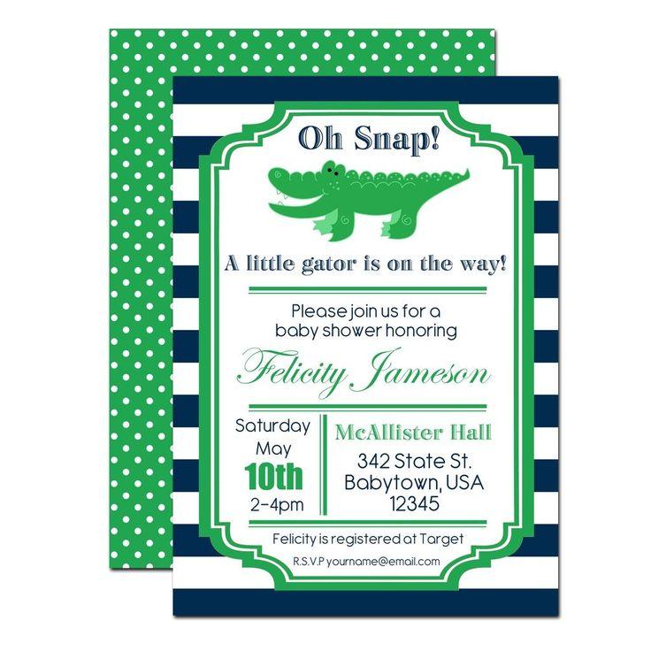 Alligator Baby Shower Invitation | www.foreveryourprints.com