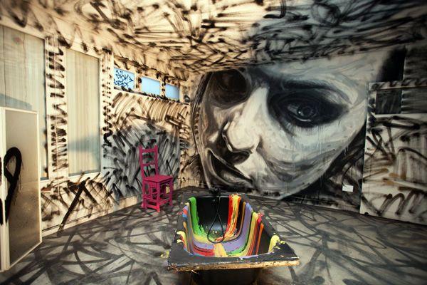 La Tour Paris 13 project. Street art by David Walker.