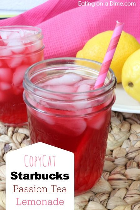 Copycat Starbucks Passion Tea Lemonade is delicious and so easy to make. Save money by making this drink at home!