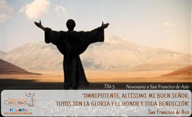 29 de Septimebre. Quinto día del novenario a san Francisco de Asís. ¡Paz y bien!