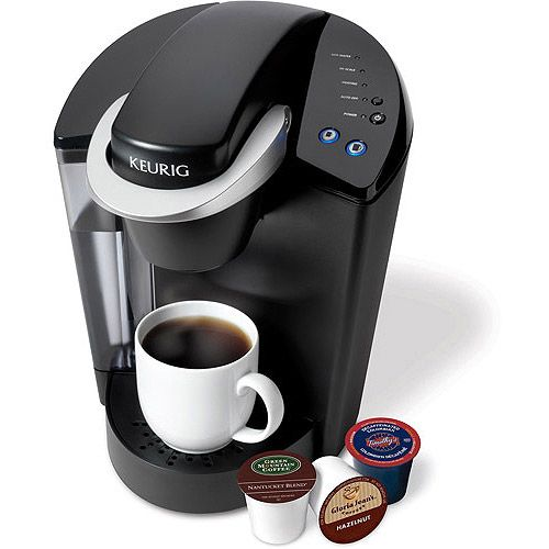 Mom loves coffee! Give her the gift of fast, delicious coffee whenever wants it with the Keurig Elite K40 Single Serve Coffeemaker. The Keurig has three easy steps to choose, brew and enjoy and a large 48-ounce removable water reservoir. It comes with three serving size options and its patented K-cup mini-brewers contain a precise grind and quantity of coffee or tea. You'll enjoy the perfect cup of Keurig coffee every time with the Keurig Elite K40 Brewer.