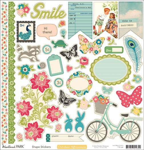 October Afternoon Woodland Park CS Shape Stickers