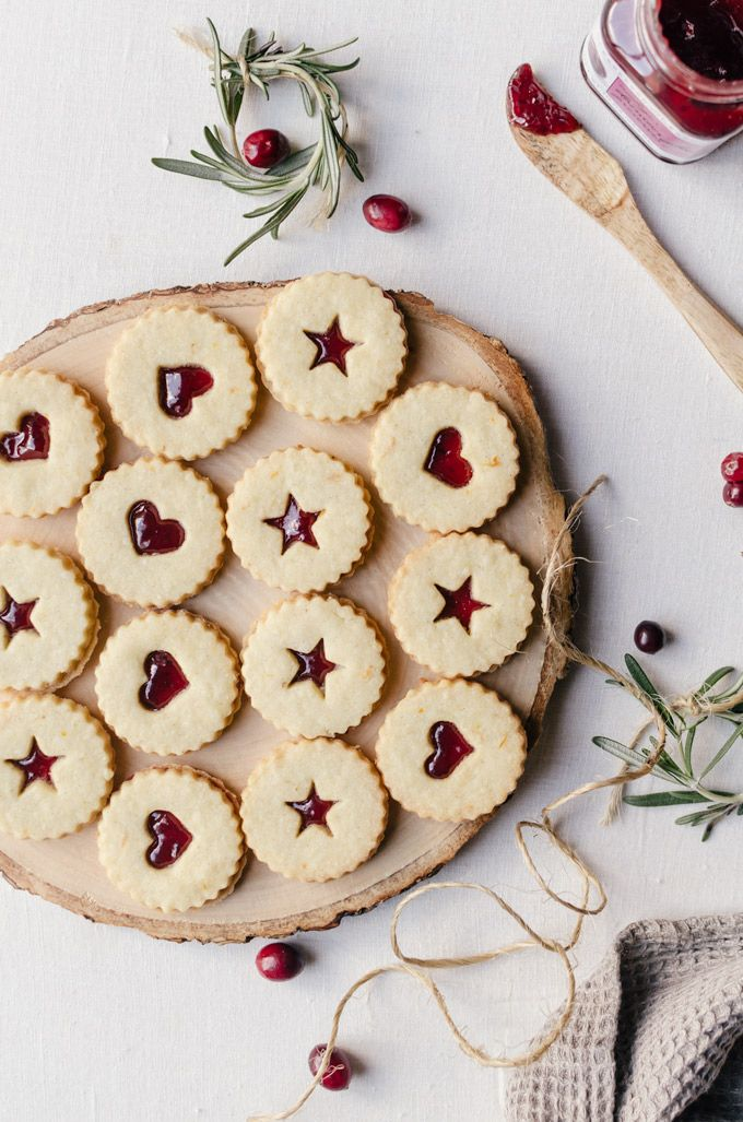 linzer cookies christmas time christmas baking linzer cookies cookie ...