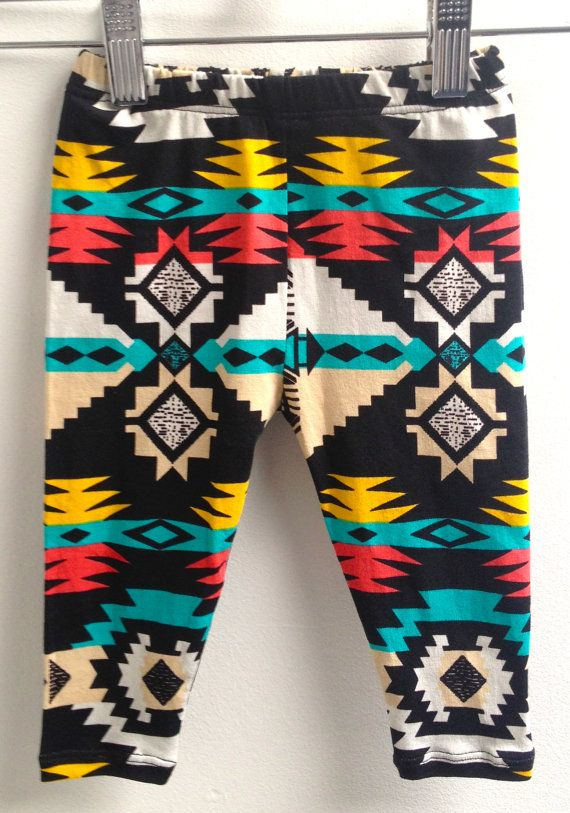 littlefour southwestern baby leggings NB 3M by littlefourclothing, $25.00