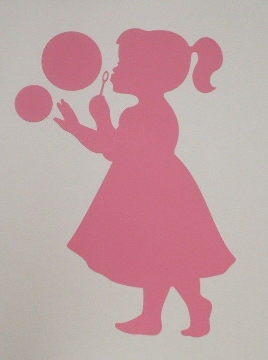 Bubbles silhouette decal | Blowing Bubbles, Silhouette ...