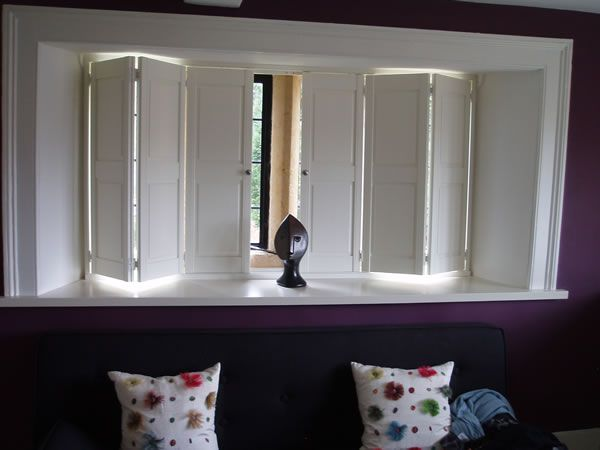 solid panel interior window shutters images - Google Search