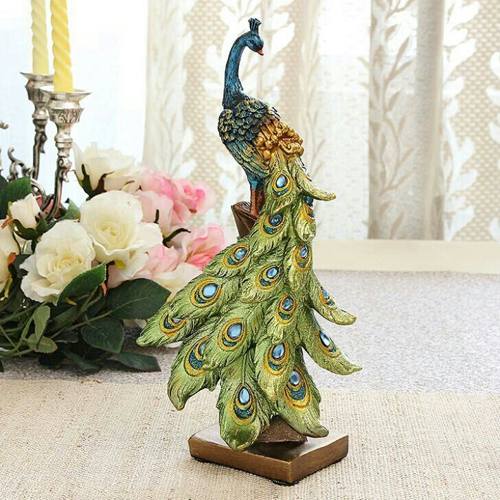 Beautiful peacock statue