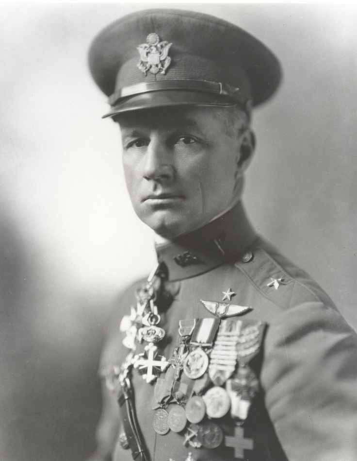 """Brigadier General William (""""Billy"""") Mitchell was highly decorated American pilot during the First World War. During the inter-war period he was an outspoken proponent of airpower. He was critical of the Navy's unwillingness to accept the dangers of attack from the air. Despite proving his arguments by sinking warships during war games, he was court-martialed in 1925 and driven from military service."""