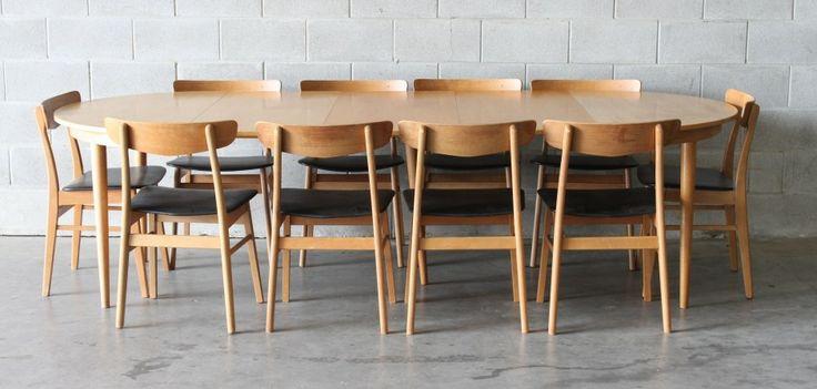 Danish oak dining suite - The Vintage Shop