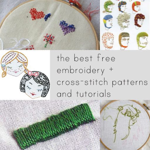 The best free embroidery and cross-stitch patterns and tutorials. Some of her links are broken but there is a lot of information there.