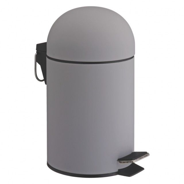 LIMA Grey soft-touch bathroom bin