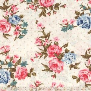 Cotton Jersey - Floral Sprays On Cream