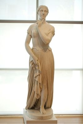 """""""La Penserosa"""" by Hiram Powers, 1856, marble. In the collection of The High Museum of Art, Atlanta, GA."""