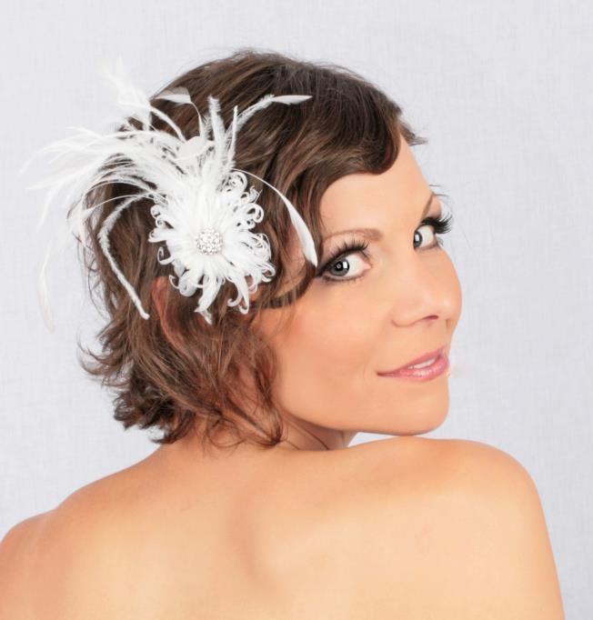 Daizy Curlz Feather Hair Clip    https://www.facebook.com/#!/pages/ShiverZ-Designs/148520791871152