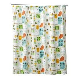 shower curtain @ Target- $30,  Why do I not mind owls?
