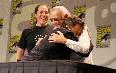 That photo In which RDJ does what every person who's ever enjoyed a Marvel comic wants to do.