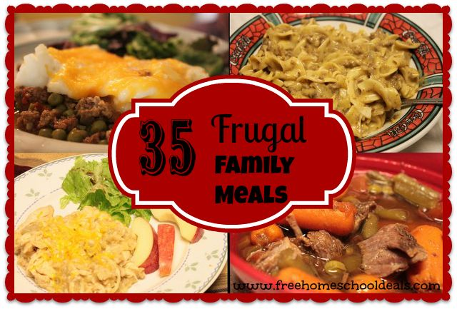 Frugal Family Meals--some of these look easy and quick