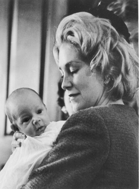"""thosekennedys: """"""""October 29, 1961: Joan Kennedy holds son Edward M. Kennedy, Jr. at his baptism """" """""""