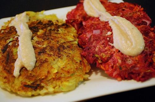 Zucchini and Beet Potato Latkes | Recipes | Pinterest