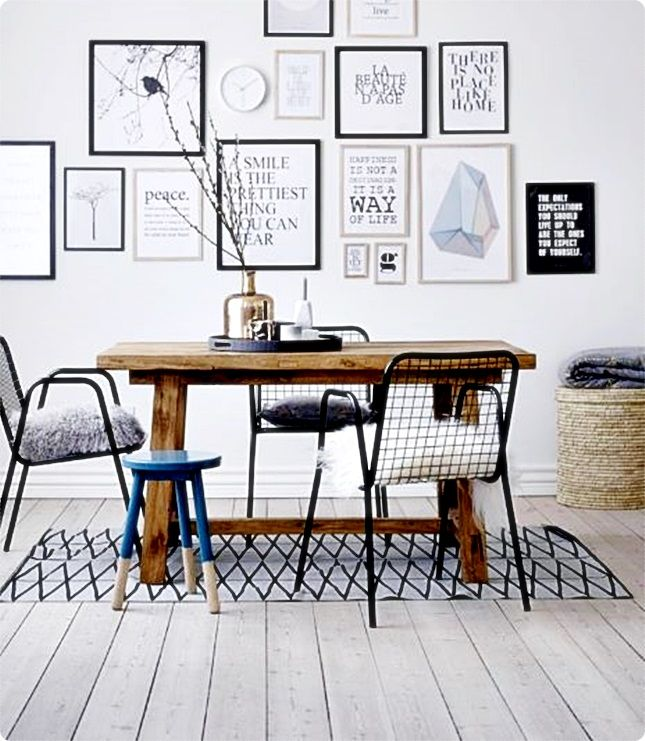 Decorating with picture frames Dark Chairs Pinterest