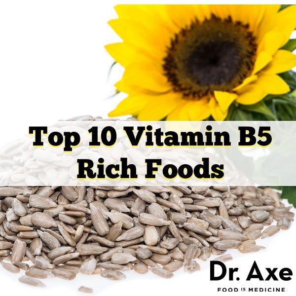 Top 10 Vitamin B5 (Pantothenic Acid) Rich Foods (deficiencies and benefits also)