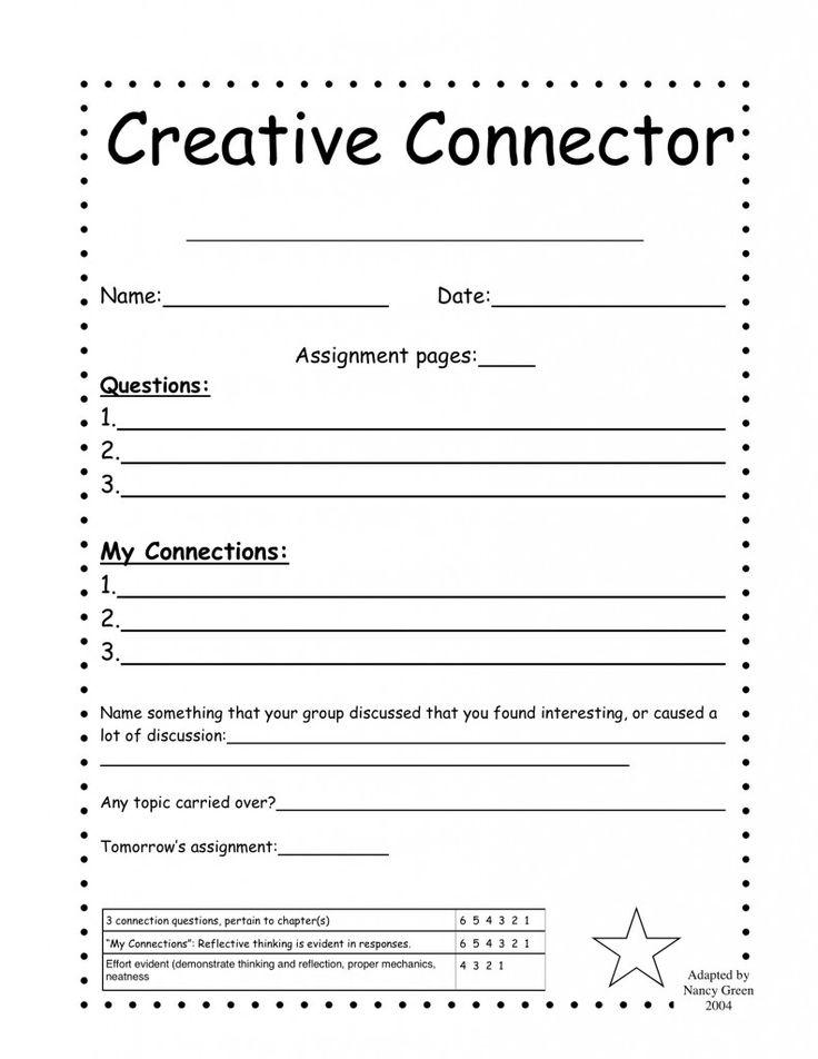 68 best Literature Circles images on Pinterest Literature - supplier evaluation form