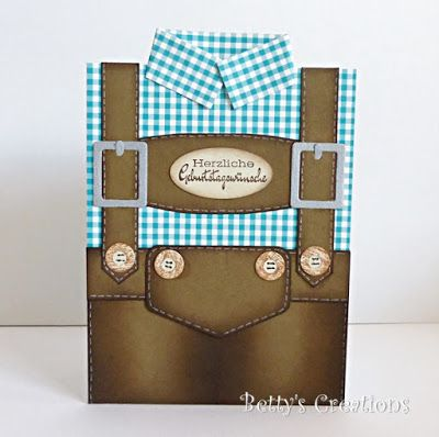 Bettys-creations: Lederhosen-Karte                                                                                                                                                     Mehr
