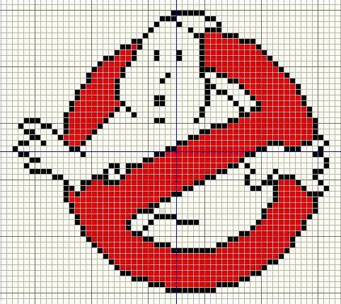 Buzy Bobbins: Ghostbusters logo Cross stitch design