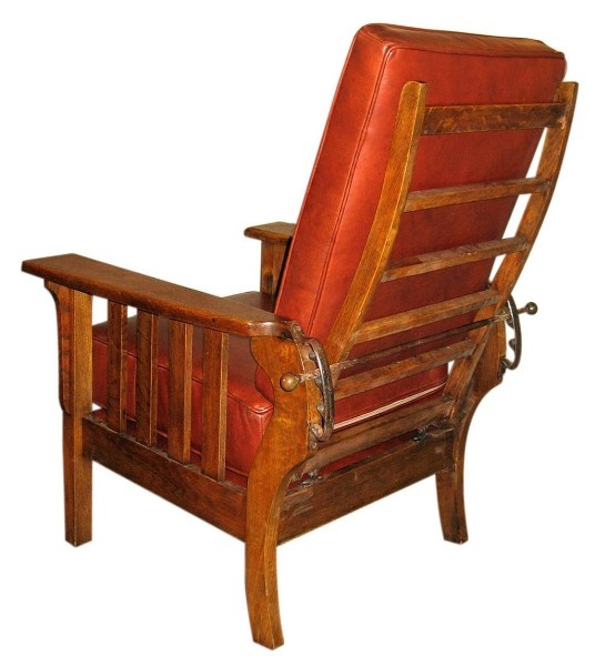 High Quality Gustav Stickley Adjustable Back Chair