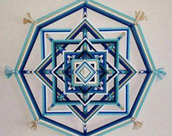 Mandala Ojo de Dios Birth by BeHappyMandalaShop on Etsy