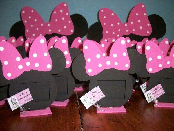 Cumpleaños Minnie Mouse | Souvenirs Minnie Mouse | Porta Retrato Minnie Mouse