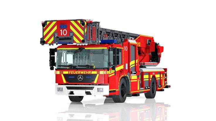LEGO Mercedes Benz Econic/ Metz L32 turntable ladder - DLA(K) 23/12 | von Niklas-B