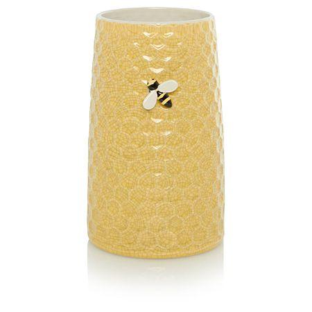 George Home Yellow Honeycomb Vase