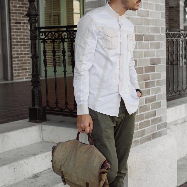 The Catalyst Work Shirt – White / Off-White
