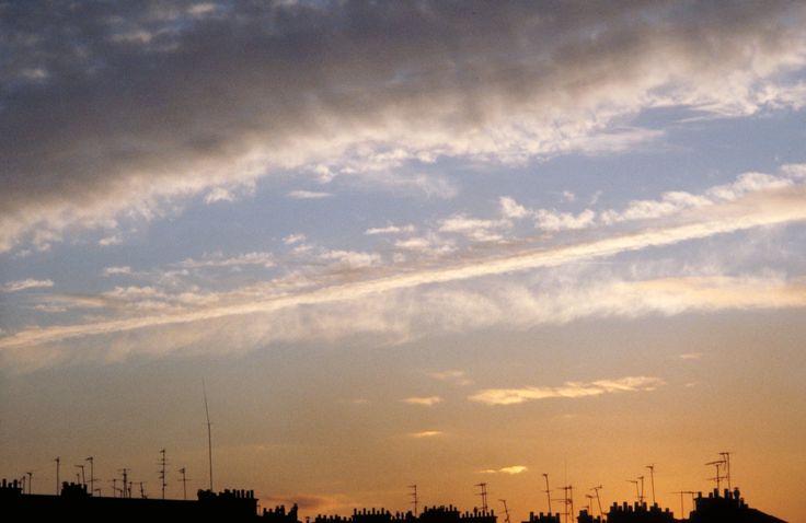 Paris, Toits, antennes, ciel