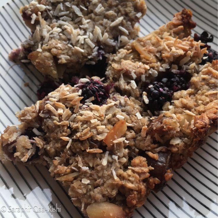 Recipe for sugar-free blackcurrant flapjacks