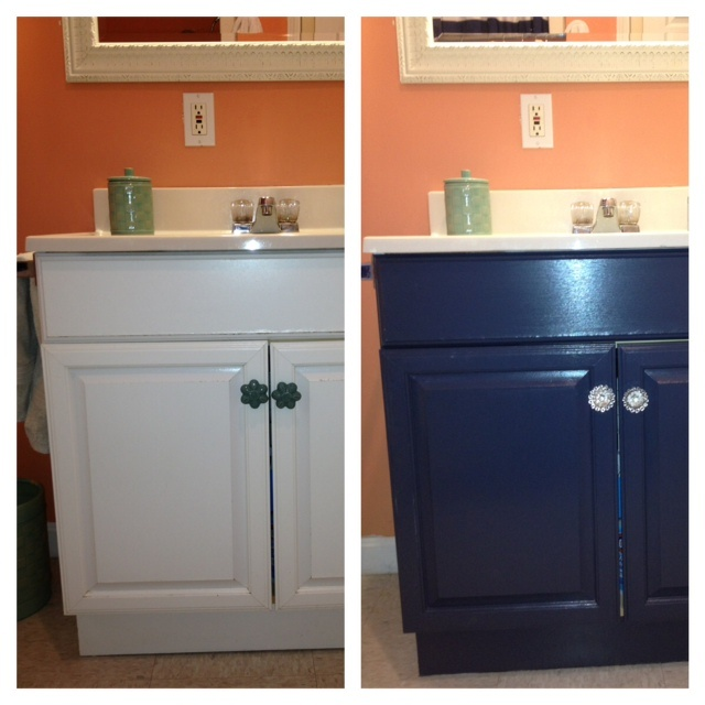 Painting a laminate bathroom vanity diy projects Paint bathroom cabinets